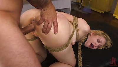 Submissive amateur takes it in both holes not unlike a floozie