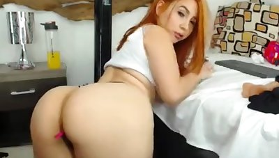 X-rated Unfortunate Redhead Babe Jade Masturbate