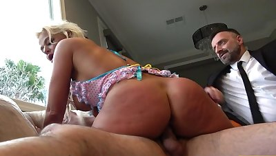 Amazing scenes with the big ass wife riding equal to a whore