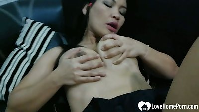 Naughty Asian gets a detect inside of her slit