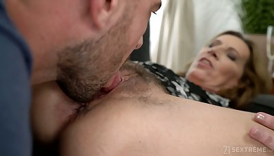 Young fancy man licks and fucks hairy grotesque cunt of nasty old woman Viol