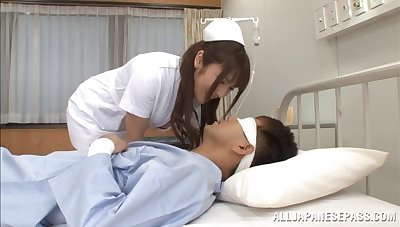 Nurse Shiori Kamisaki fucks her patient in the health centre wildly