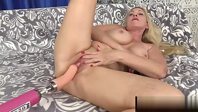 Sexy Granny Cala Craves Gets Drilled by a Fucking Appliance