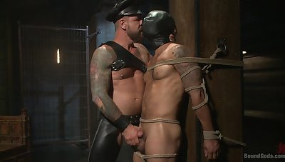 Happy-go-lucky men mean business when it comes to brutal BDSM