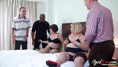 Fat whore Trisha has invited chubby old bitch to ingratiate oneself with several cocks