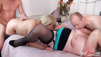 AgedLovE British Housewives Hard Core Groupsex
