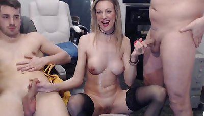 Blond Become angry Main Bitch Serves Two Guys - ANALDIN