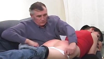 Teen Spanked By GrandPa !!!