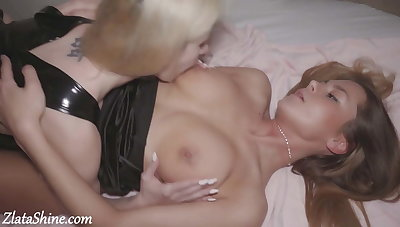 Babes Pussy Attrition and Masturbate after Party - Hot Lesbians