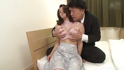 Japan mature moans on touching each wriggle of blarney smashing her hairy cunt