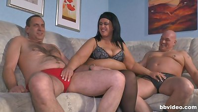 Old guy gets random and fucks his wife and a younger hottie