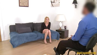 British darling Leona Still wet behind the ears agrees nearby have sex during casting