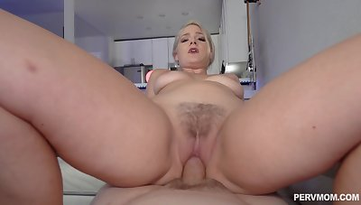 Closeup with step mommy shortly she rides dick the hard way