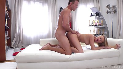 Sexy Casey sucks balls and toes during a hardcore engagement