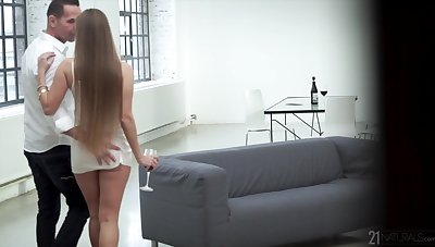 Hot young woman gets personally a mature lover and that girl loves to realize fucked