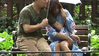Amateur outdoors video of a Japanese chick getting pleasured